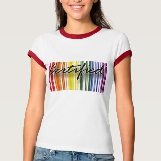 Camiseta T-shirt certificado ORGULHO GAY do ARCO-ÍRIS