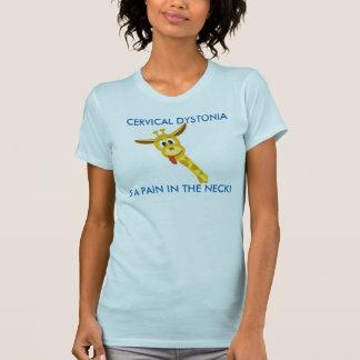 Camiseta T-shirt cervical da consciência da distonia