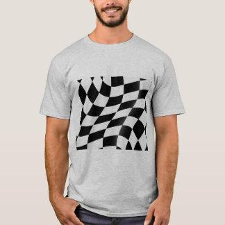 Camiseta T-shirt Checkered preto e branco dos homens da