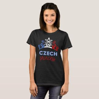 Camiseta T-shirt checo da bandeira nacional da princesa