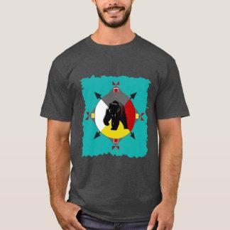 Camiseta T-shirt Cherokee do urso de quatro sentidos