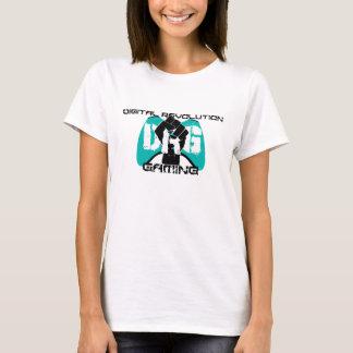 Camiseta T-shirt ciano do logotipo: Mulheres brancas