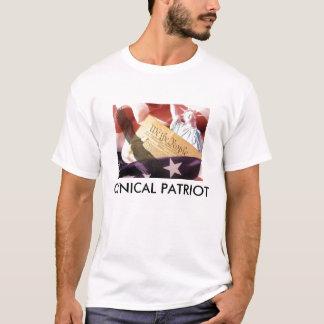 Camiseta T-shirt cínico do patriota (homens)