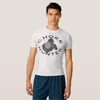 Camiseta T-shirt cinzento da compressão do caçador do