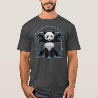 Camiseta T-shirt cinzento da panda de Vitruvian dos homens