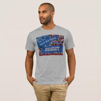 Camiseta T-shirt cinzento da resistência da união