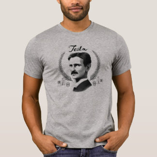 Camiseta T-shirt cinzento de Tesla da urze dos homens