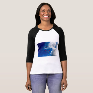 Camiseta T-shirt claro natural do céu azul
