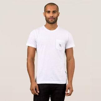 Camiseta T-shirt clássico do bolso de Floux do falso