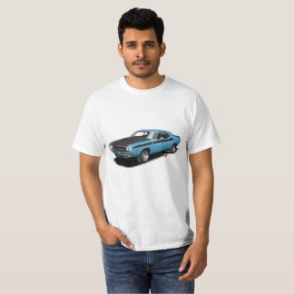 Camiseta T-shirt clássico do carro do desafiador azul do