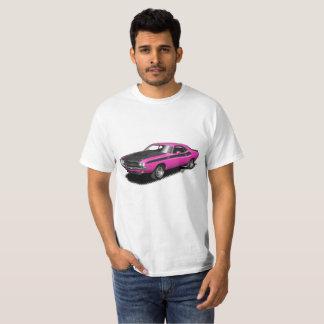 Camiseta T-shirt clássico do carro do desafiador magenta do