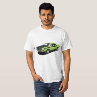 Camiseta T-shirt clássico do carro do desafiador verde de