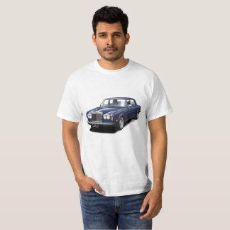 Camiseta T-shirt clássico real do carro do rolamento azul