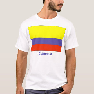 Camiseta T-shirt colombiano da bandeira