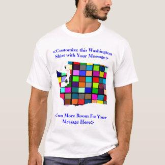 Camiseta T-shirt colorido customizável da eleição de