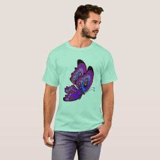 Camiseta t-shirt colorido da borboleta da mandala dos