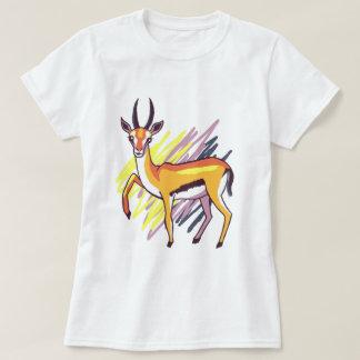 Camiseta T-shirt colorido do desenho do divertimento da