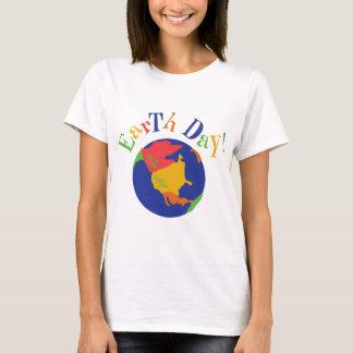 Camiseta T-shirt colorido do Dia da Terra