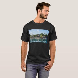 Camiseta T-shirt com design de Curaçao da praia do aquário