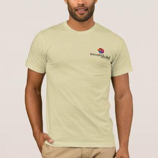 Camiseta T-shirt com do logotipo parte traseira sobre