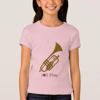 Camiseta T-shirt com ilustração de uma trombeta