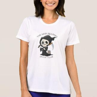 Camiseta T-shirt com leitor/ceifeira pretos