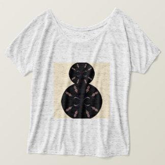 Camiseta T-shirt com mandalas pretas