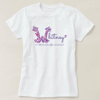 Camiseta T-shirt conhecido do costume do significado de W