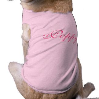 Camiseta T-shirt conhecido personalizado da roupa do cão de