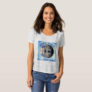 Camiseta T-shirt consciente da terra do planeta do seixo