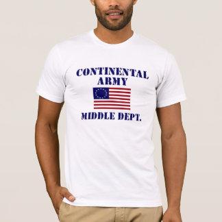 Camiseta T-shirt continental do exército da guerra
