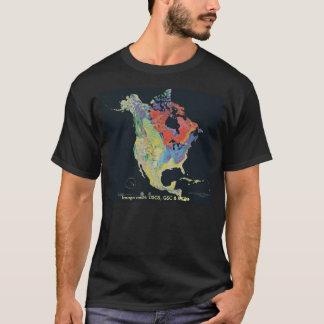 Camiseta T-shirt/continente norte-americano