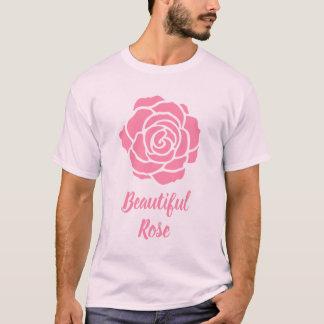 Camiseta T-shirt cor-de-rosa bonito cor-de-rosa