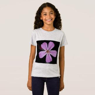 Camiseta T-shirt cor-de-rosa da beleza para meninas