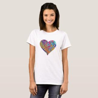 Camiseta T-shirt cor-de-rosa da bolha