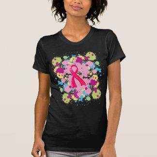 Camiseta T-shirt cor-de-rosa da fita de Splat