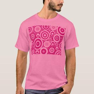Camiseta T-shirt cor-de-rosa da hipnose