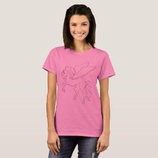 Camiseta T-shirt cor-de-rosa de Pegasus