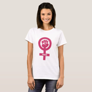 Camiseta T-shirt cor-de-rosa do desenhista do punho do
