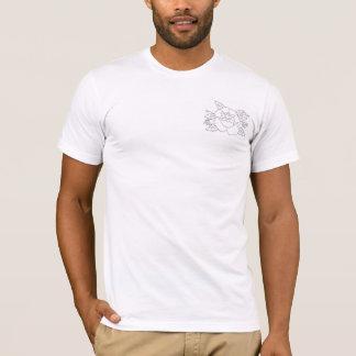 Camiseta T-shirt cor-de-rosa do impressão do bolso do