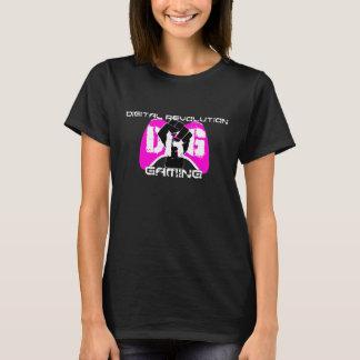 Camiseta T-shirt cor-de-rosa do logotipo: Mulheres pretas