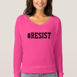 Camiseta T-shirt cor-de-rosa do #RESIST