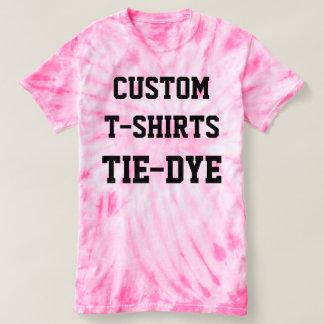 Camiseta T-SHIRT COR-DE-ROSA do TIE-DYE dos homens