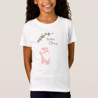 Camiseta T-shirt cor-de-rosa dos calçados de dedo do pé