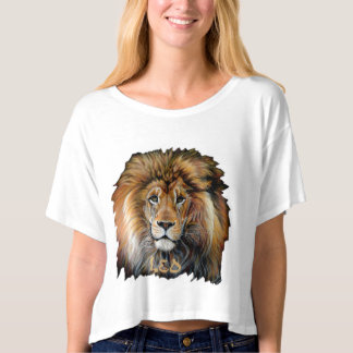 Camiseta T-shirt CORAJOSO do zodíaco de Leo do LEÃO