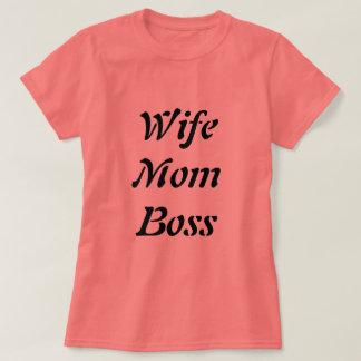 Camiseta T-shirt coral do chefe da mamã da esposa