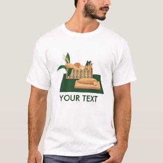 Camiseta T-shirt cozido cesta dos homens do pão do pão