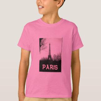 Camiseta T-shirt, criança/torre Eiffel