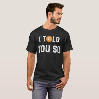 Camiseta T-shirt cripto engraçado de Bitcoin da moeda