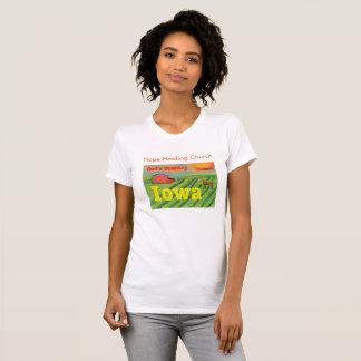 Camiseta T-shirt cristão da fazenda de Iowa da igreja cura